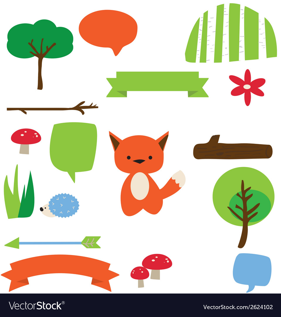 Forest fellows vector | Price: 1 Credit (USD $1)