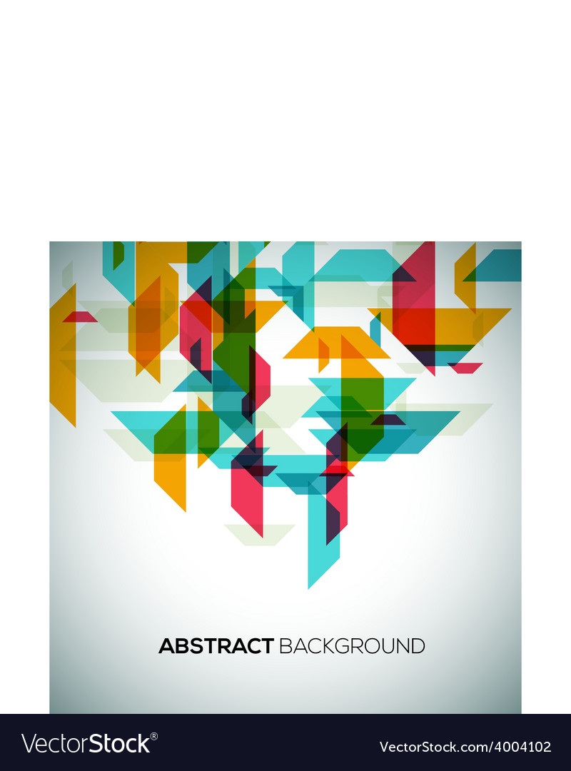 Modern geometrical abstract background vector | Price: 1 Credit (USD $1)