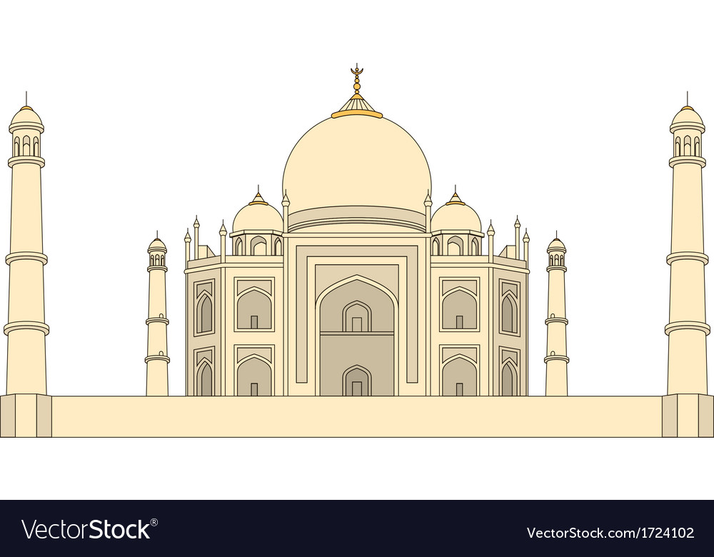 Taj mahal agra india vector | Price: 1 Credit (USD $1)