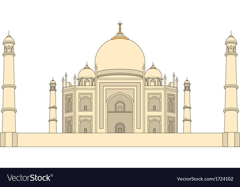 Taj mahal agra india vector | Price: 1 Credit (USD $1)