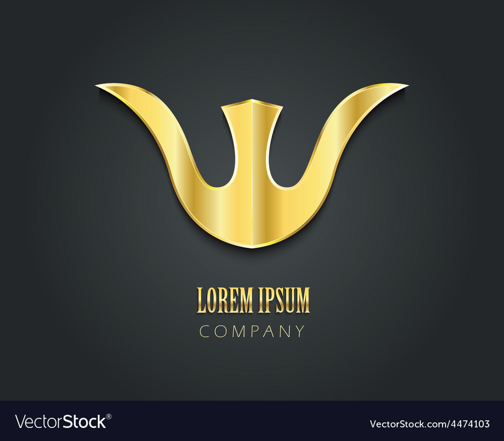 Abstract golden symbol for your company in form of vector | Price: 1 Credit (USD $1)