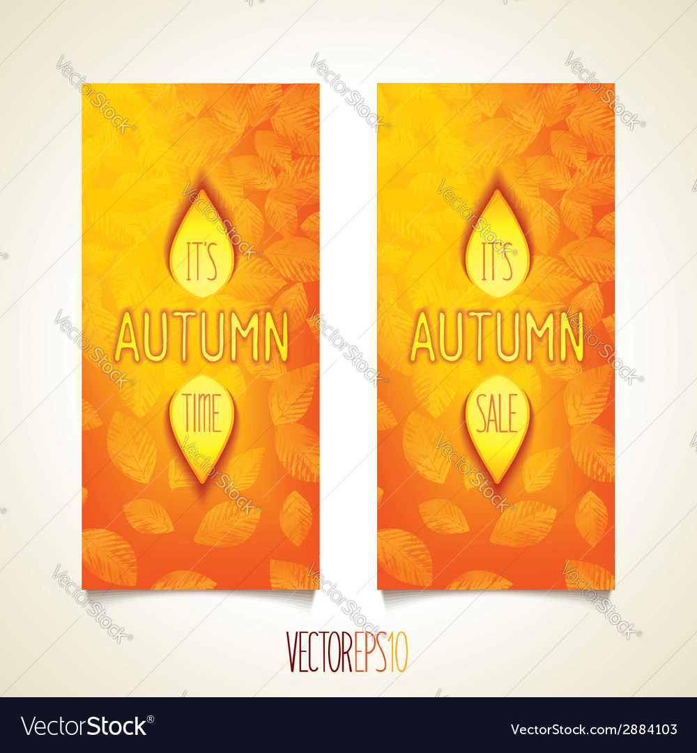 Autumn quality design flyers vector | Price: 1 Credit (USD $1)
