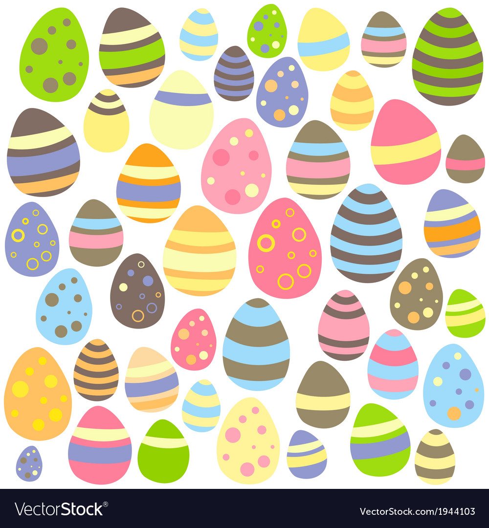 Easter white seamless texture with eggs vector | Price: 1 Credit (USD $1)