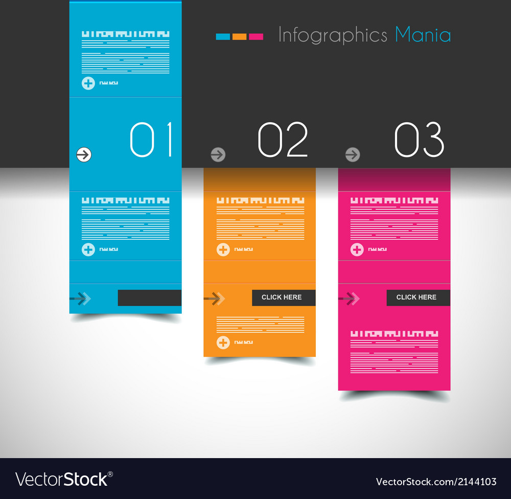 Infographic design template with flat design vector | Price: 1 Credit (USD $1)