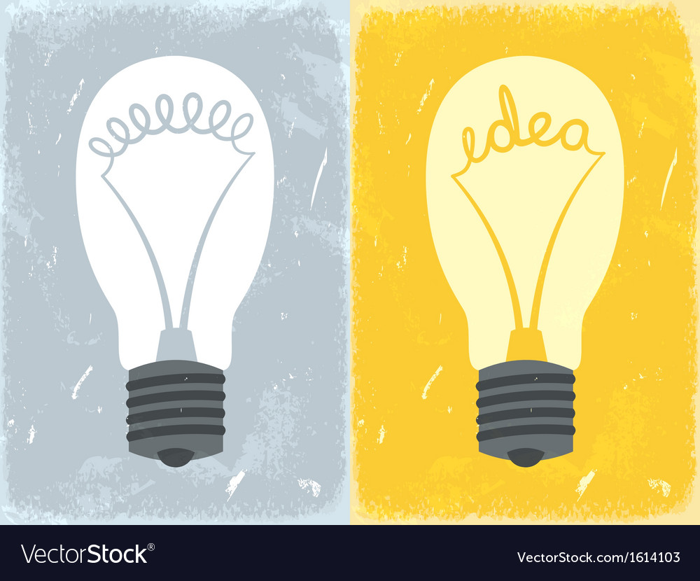 Lightbulb with idea vector | Price: 1 Credit (USD $1)