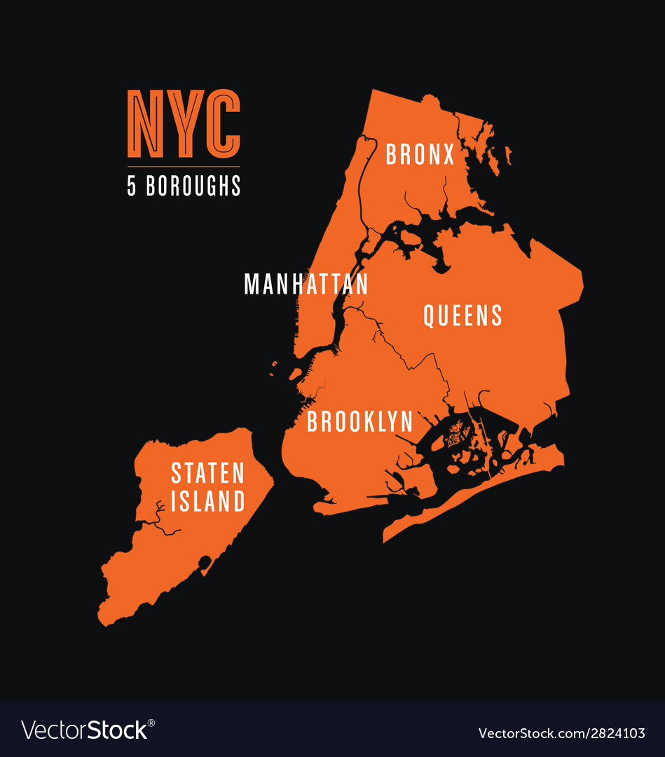 Nyc 5 boroughs vector | Price: 1 Credit (USD $1)