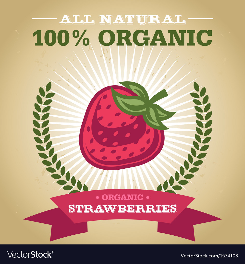 Organic strawberry vector | Price: 1 Credit (USD $1)