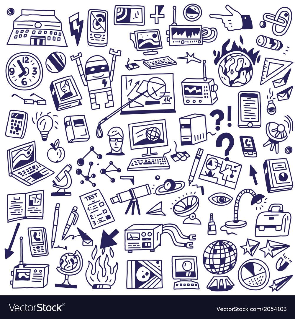 Science - big doodles set vector | Price: 1 Credit (USD $1)