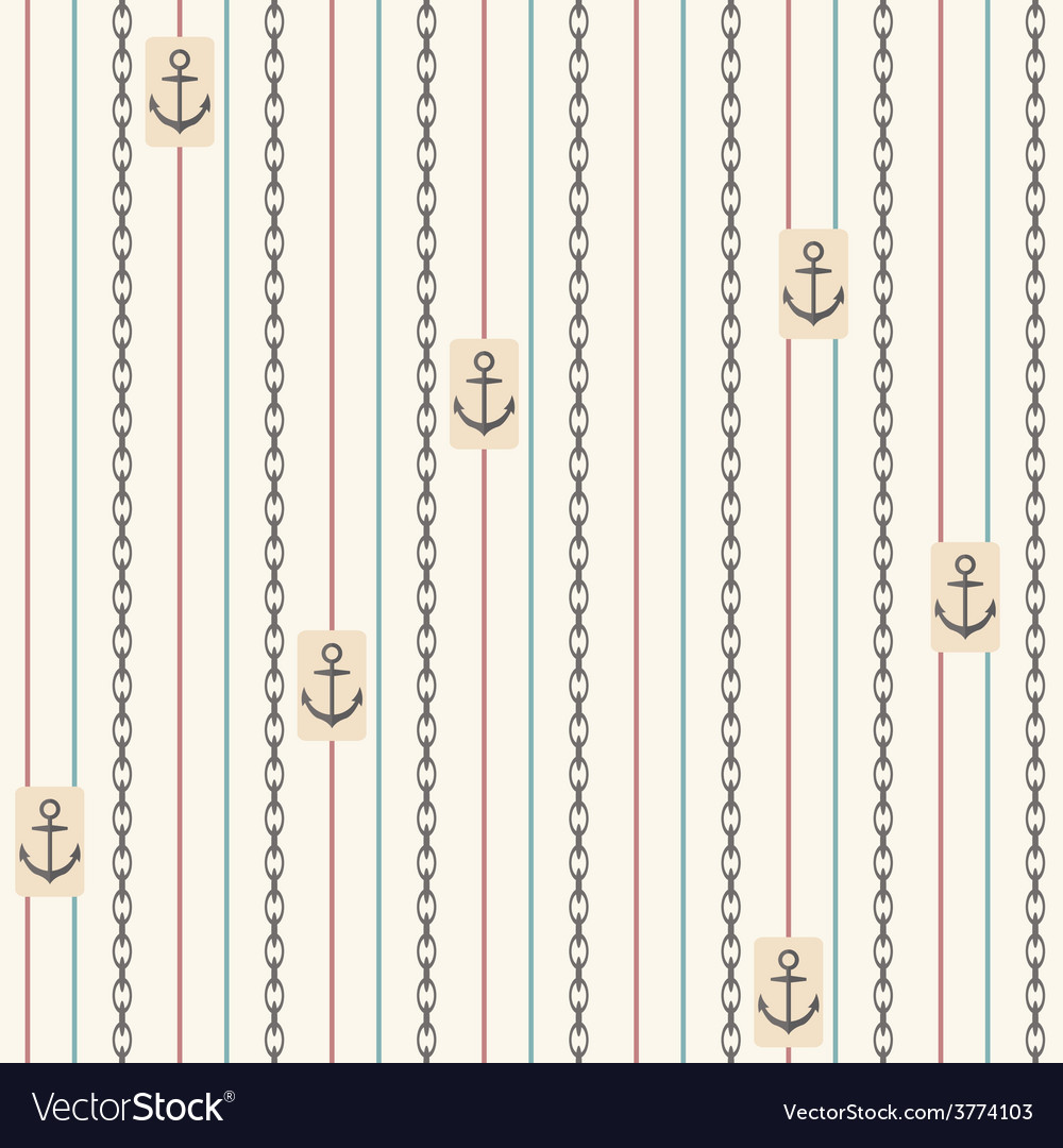 Seamless pattern with anchors nautical elements vector | Price: 1 Credit (USD $1)