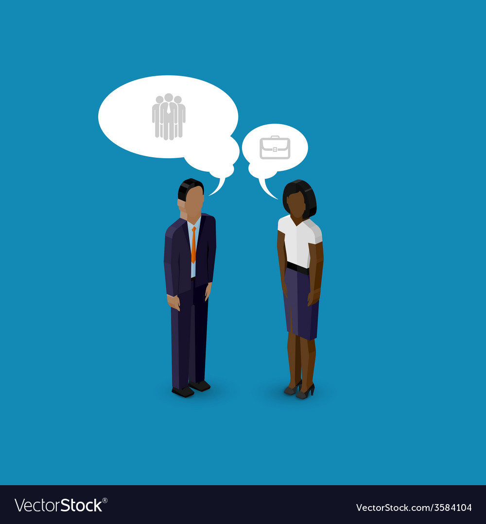 3d isometric cartoon of man and woman characters vector   Price: 1 Credit (USD $1)