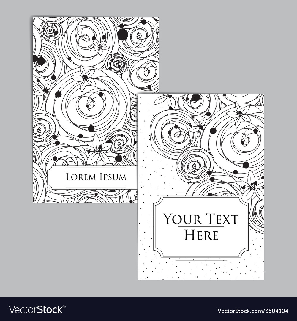 Booklet with intricate pattern vector | Price: 1 Credit (USD $1)