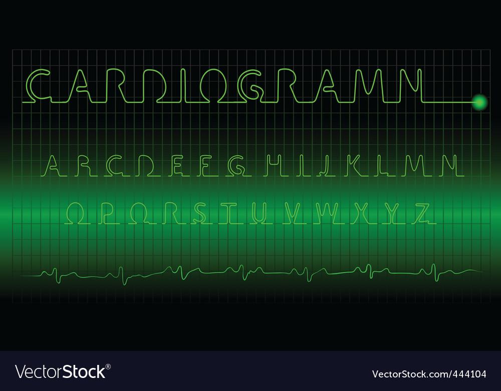 Cardiogram alphabet vector   Price: 1 Credit (USD $1)