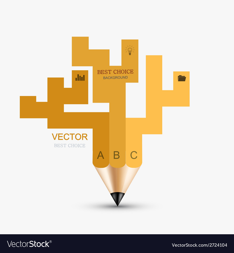 Concept pencil element design vector | Price: 1 Credit (USD $1)