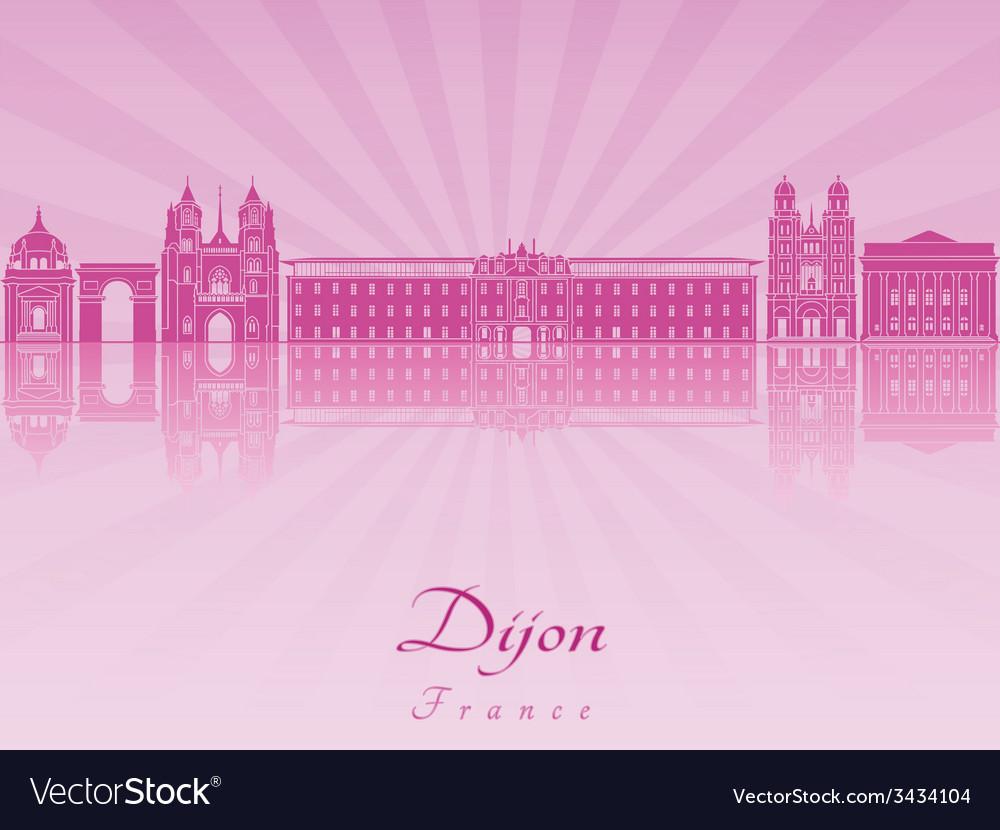 Dijon skyline in purple radiant orchid vector   Price: 1 Credit (USD $1)