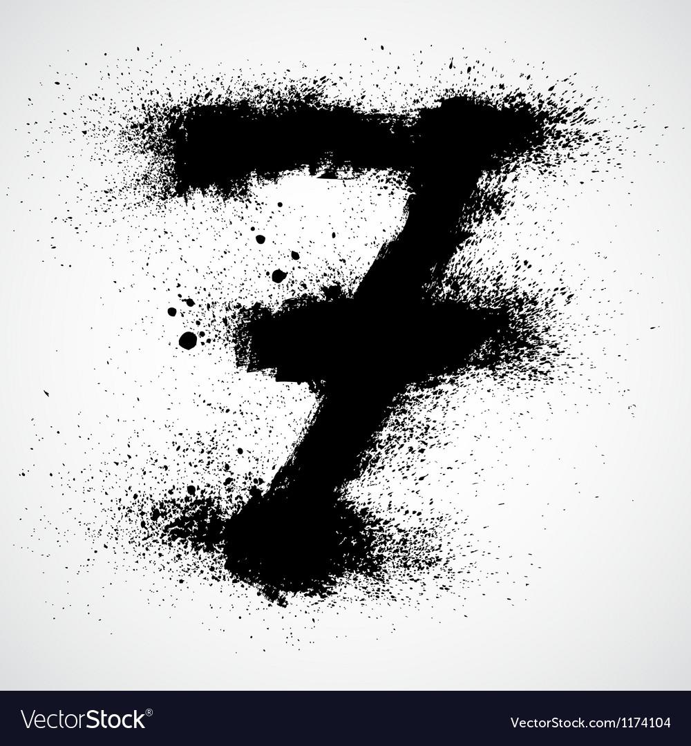 Grunge letter - alphabet symbol design vector | Price: 1 Credit (USD $1)