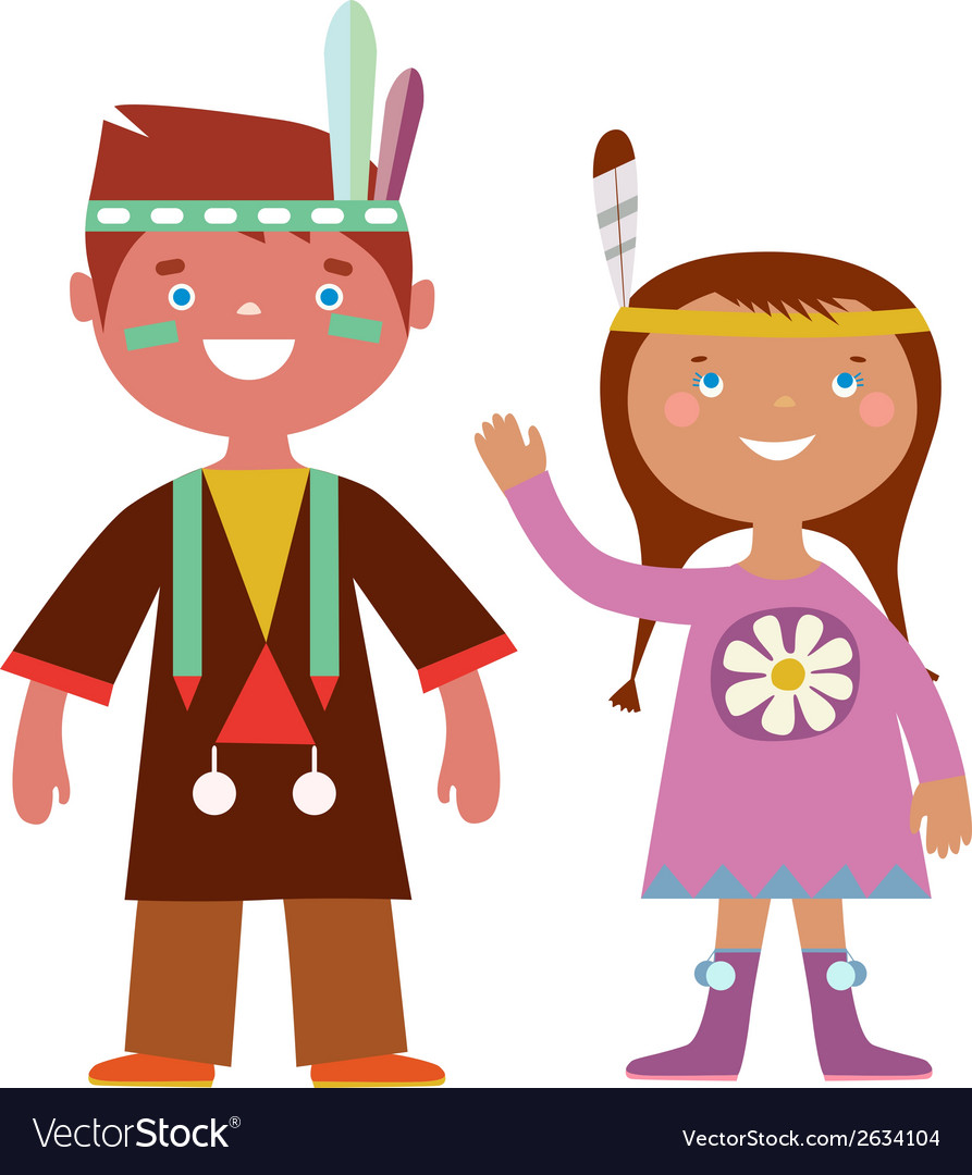 Indian kids vector | Price: 1 Credit (USD $1)