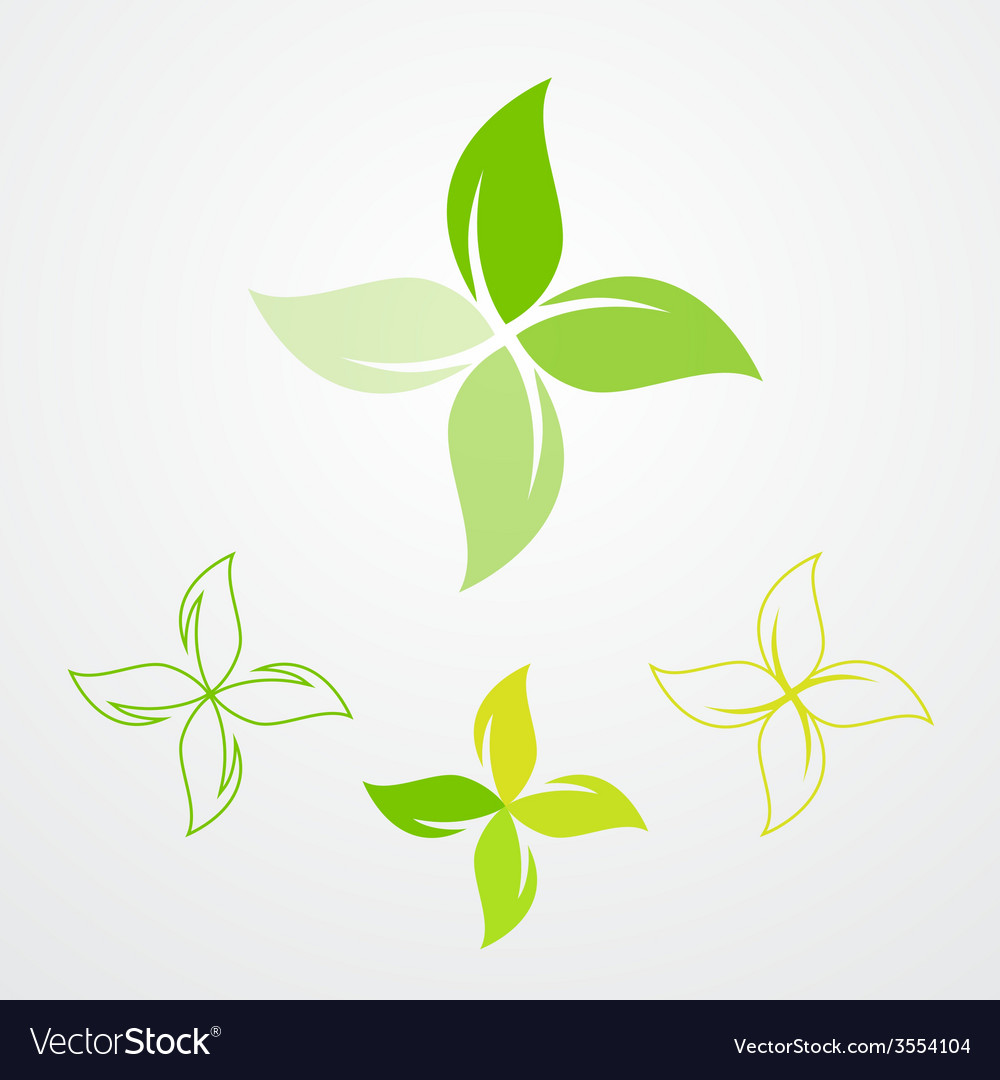 Natural products pharmacy symbol collection vector | Price: 1 Credit (USD $1)