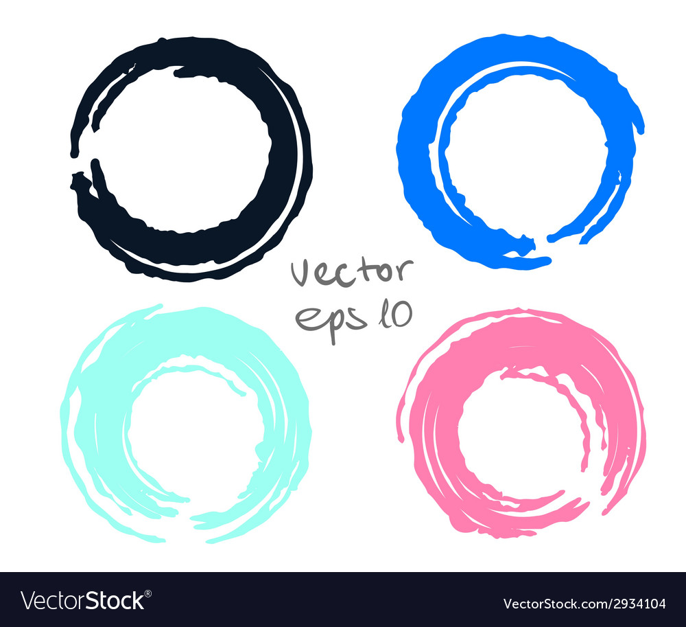 Painted circles set vector | Price: 1 Credit (USD $1)