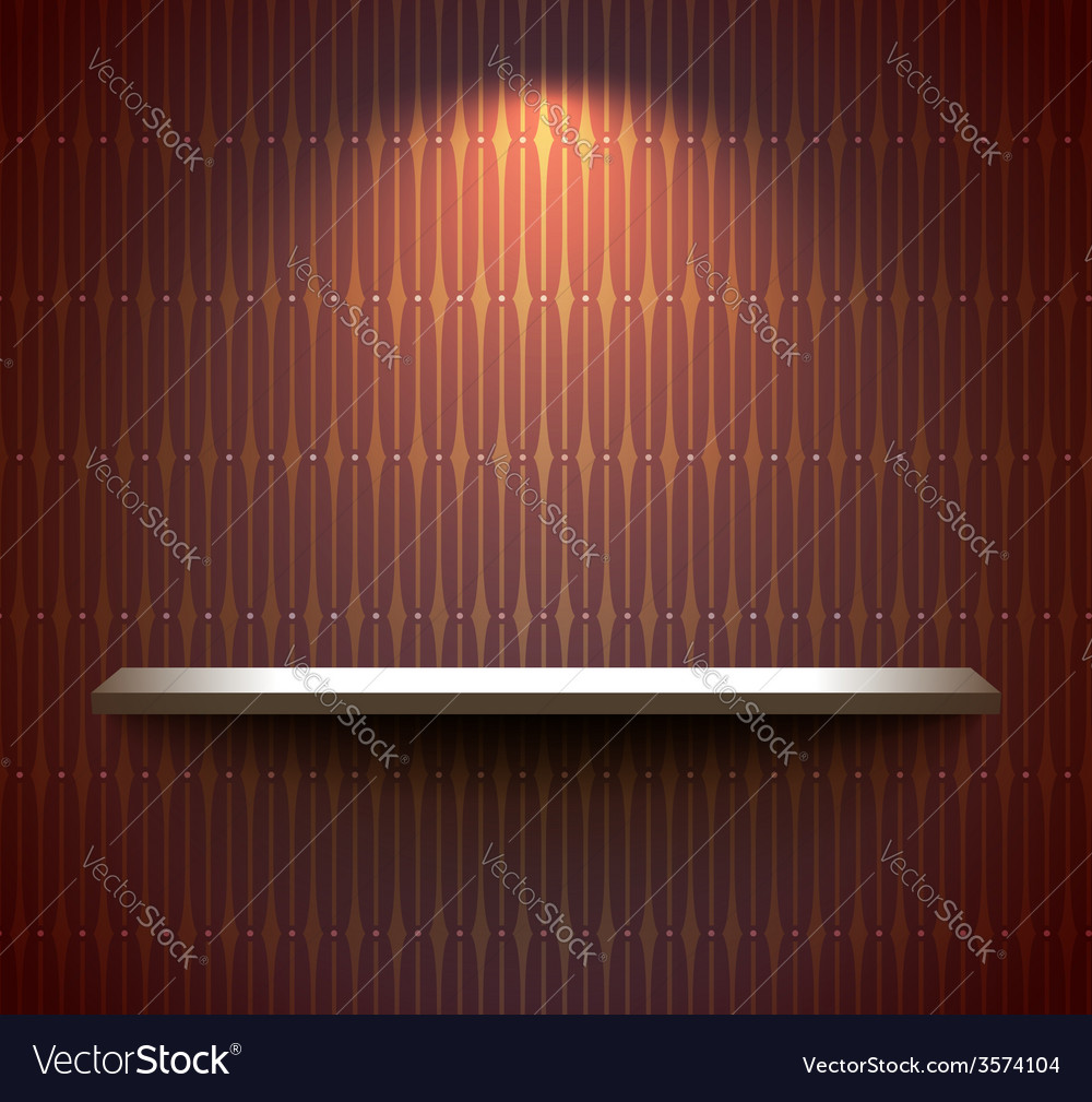 Shelf on the brown wall vector | Price: 1 Credit (USD $1)
