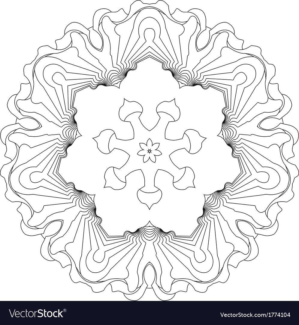 Symmetry curves pattern vector | Price: 1 Credit (USD $1)