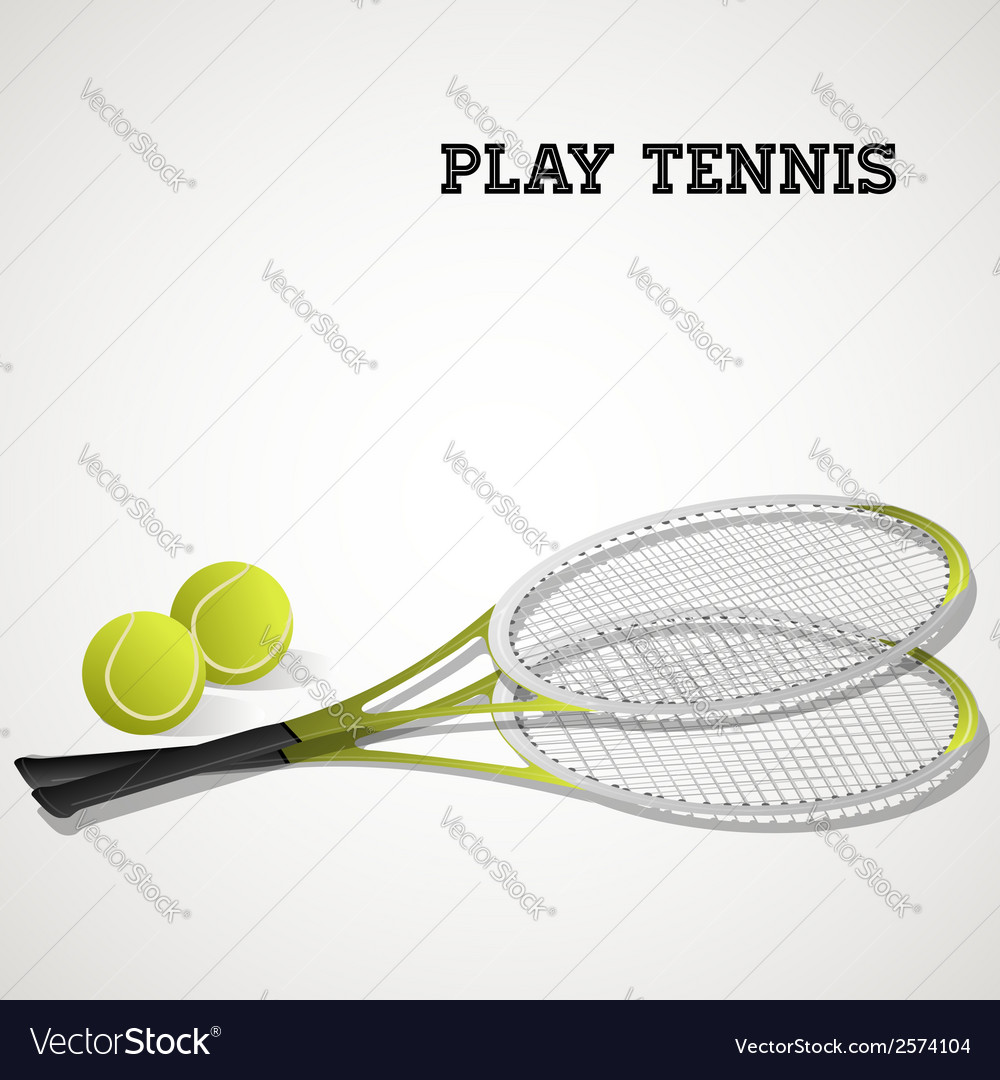Tennis rackets and balls vector | Price: 1 Credit (USD $1)