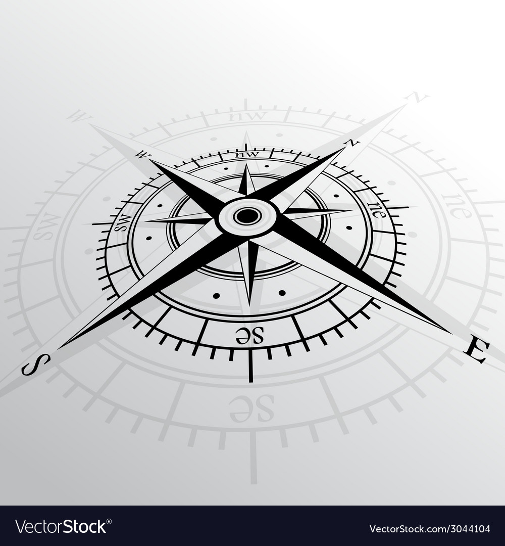 Wind rose background vector | Price: 1 Credit (USD $1)
