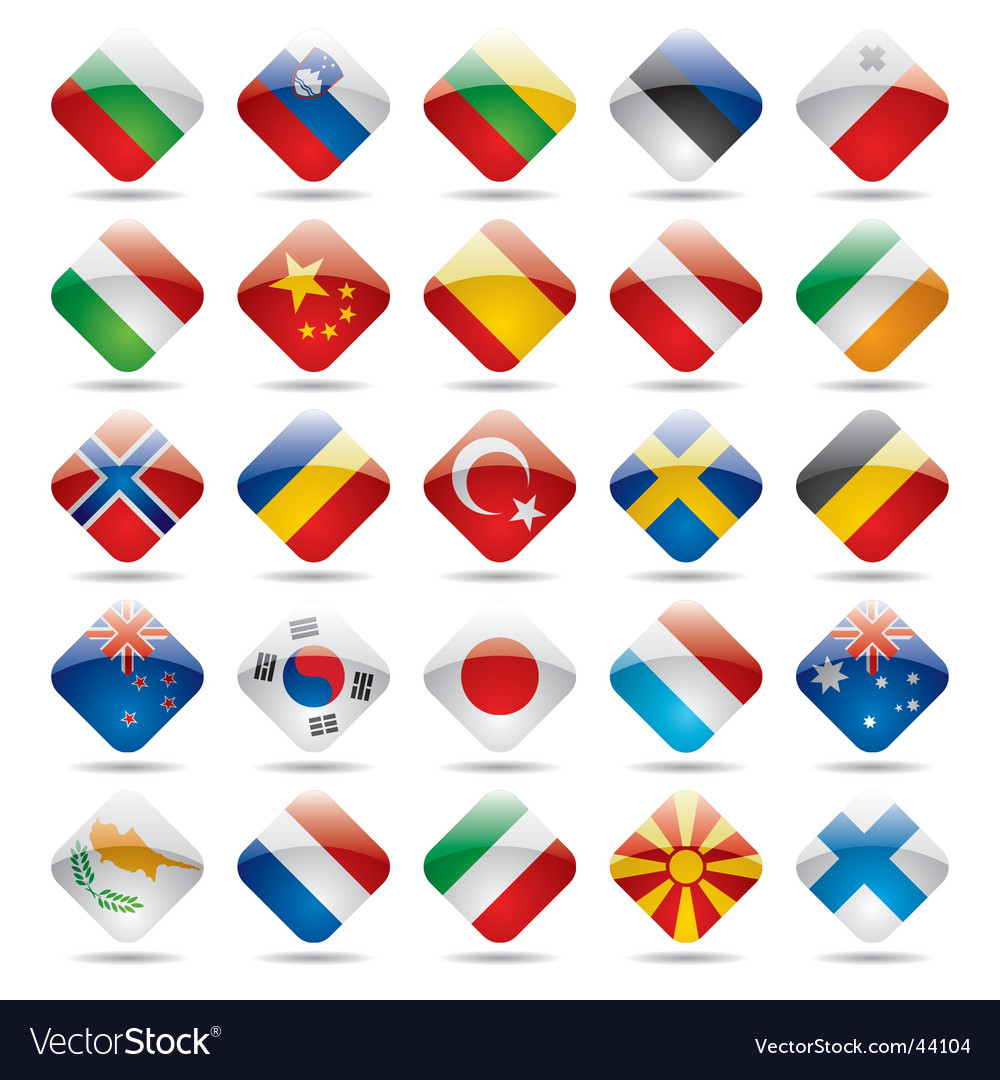 World flag icons vector | Price: 1 Credit (USD $1)