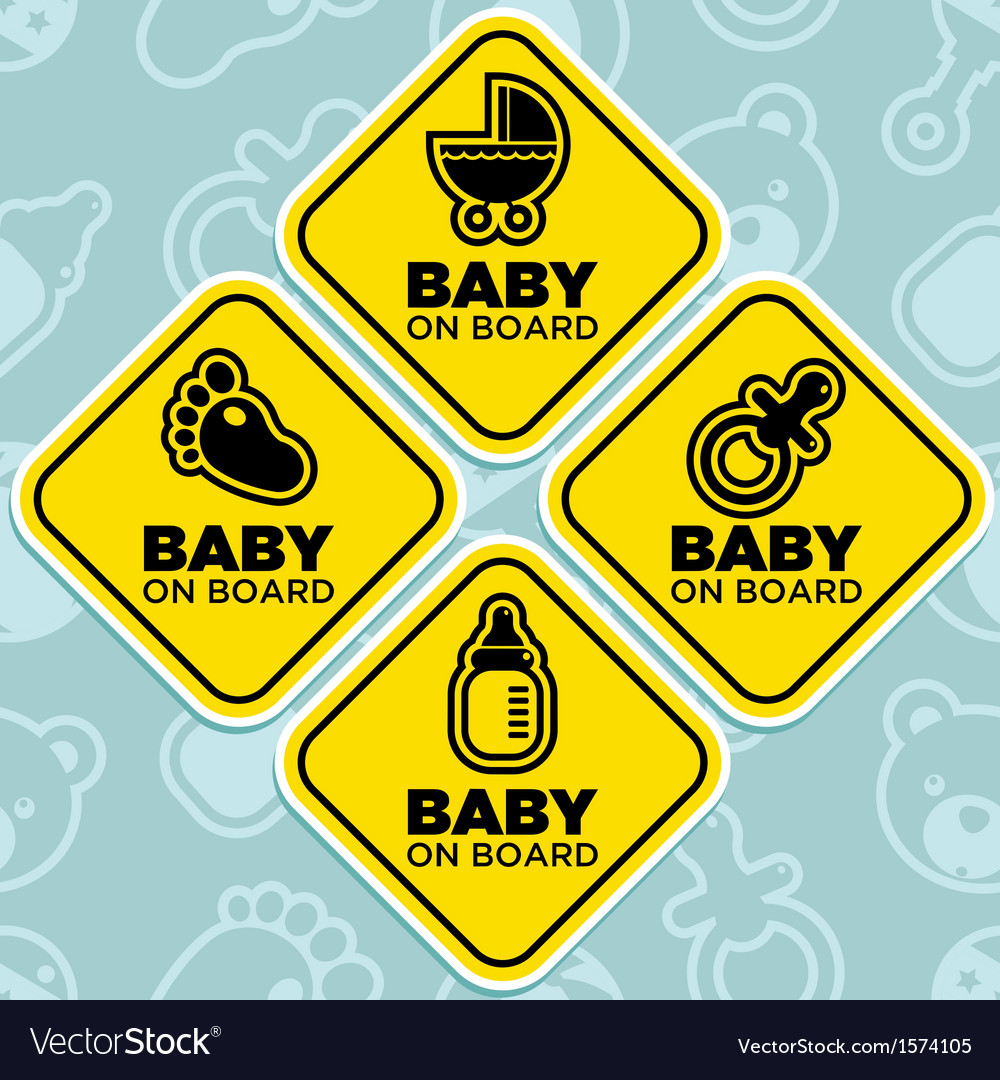 Baby on board signs vector | Price: 1 Credit (USD $1)