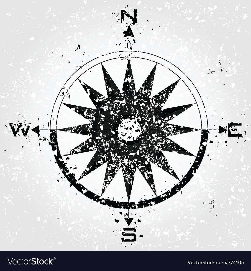 Compass grunge vector | Price: 1 Credit (USD $1)