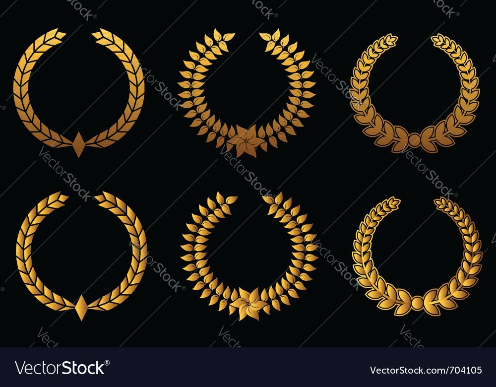 Golden laurel wreaths vector   Price: 1 Credit (USD $1)