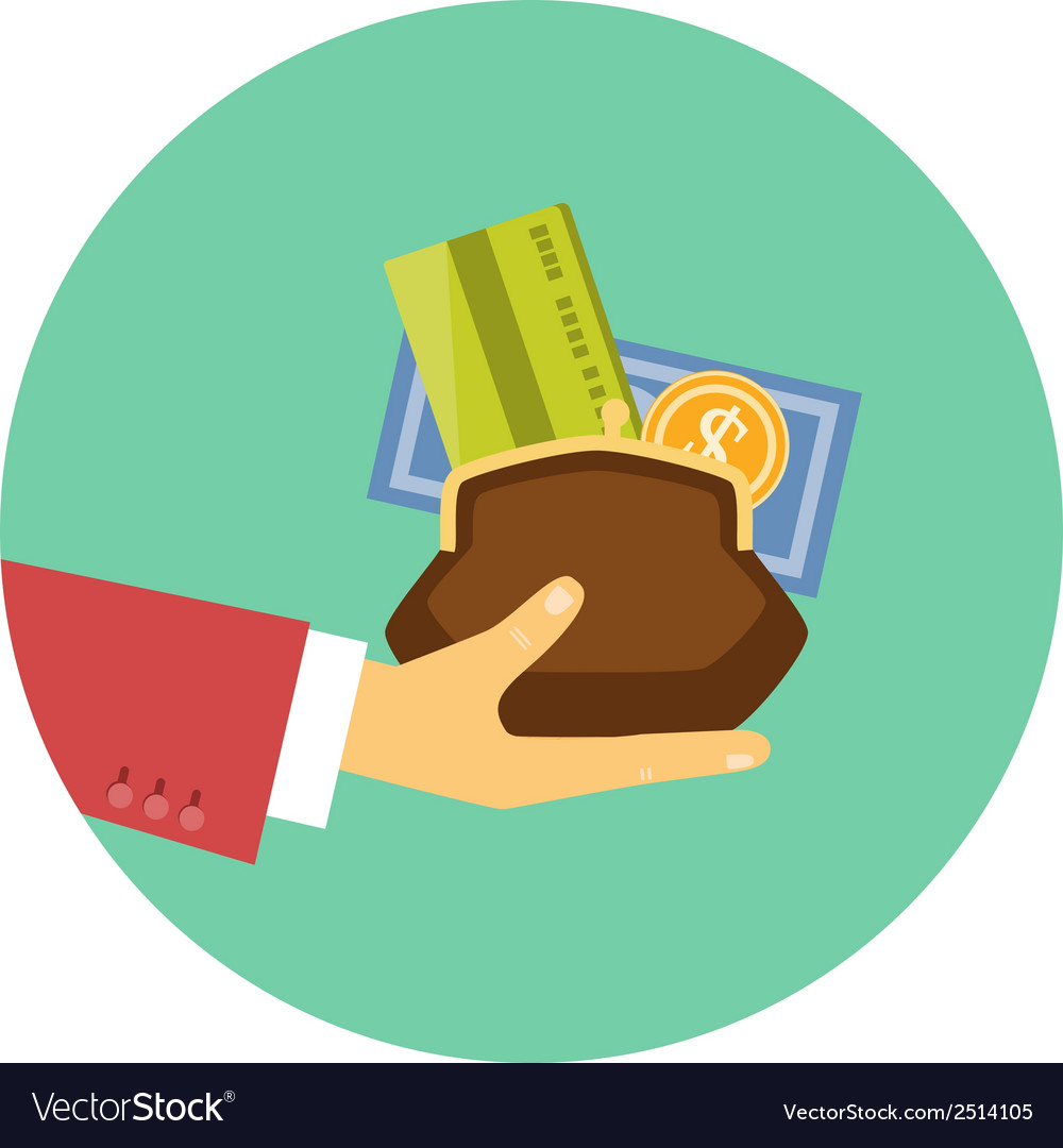 Hand giving money - concept of a credit or loan vector | Price: 1 Credit (USD $1)