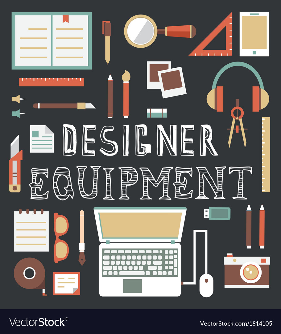 Set of equipment for design designer gadgets for c vector | Price: 1 Credit (USD $1)