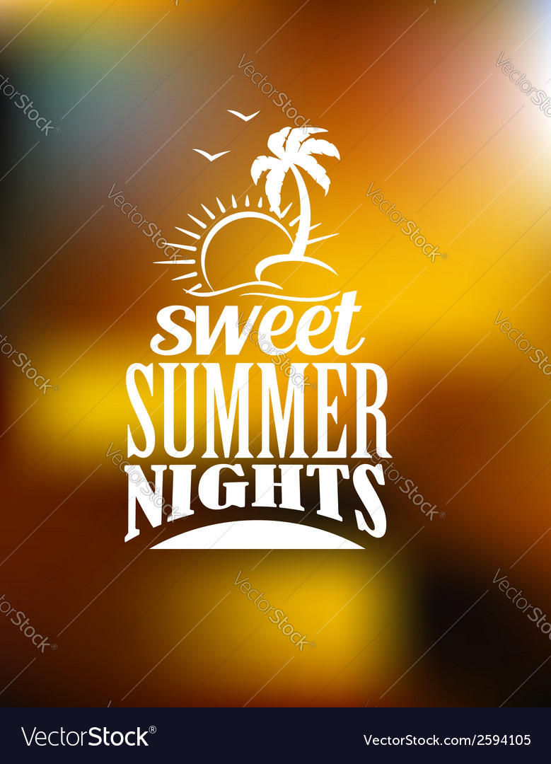 Sweet summer nights banner vector | Price: 1 Credit (USD $1)