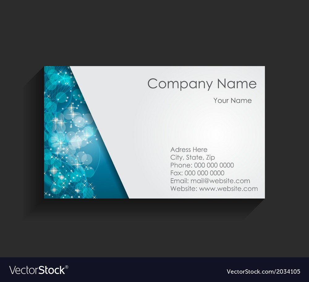 Template for business card vector | Price: 1 Credit (USD $1)