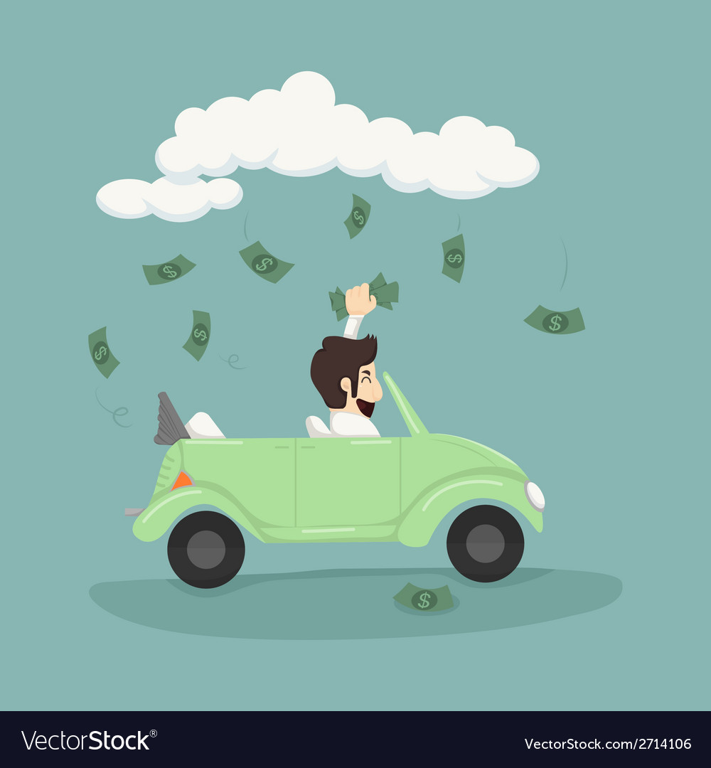 Businessman catching money vector | Price: 1 Credit (USD $1)