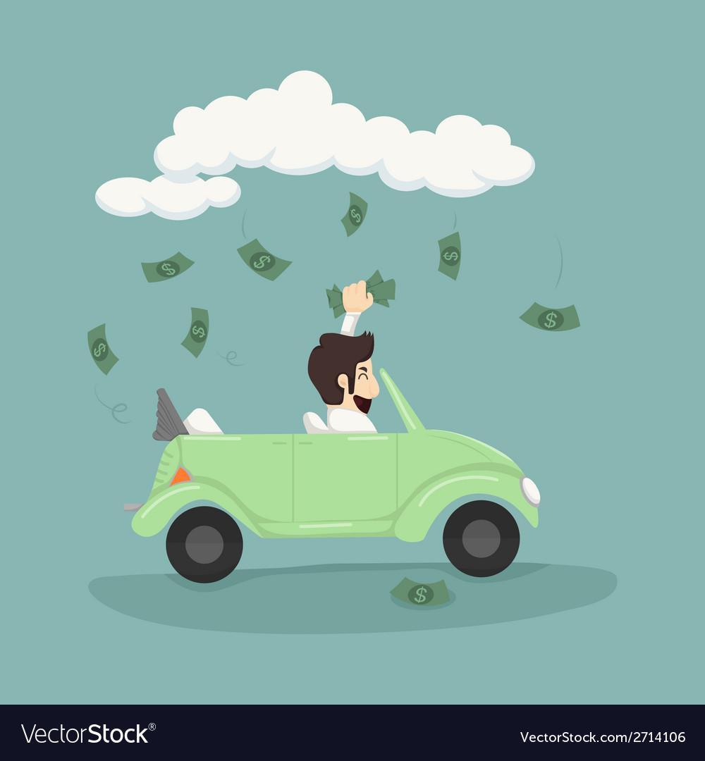 Businessman catching money vector | Price: 1 Credit (USD $1)