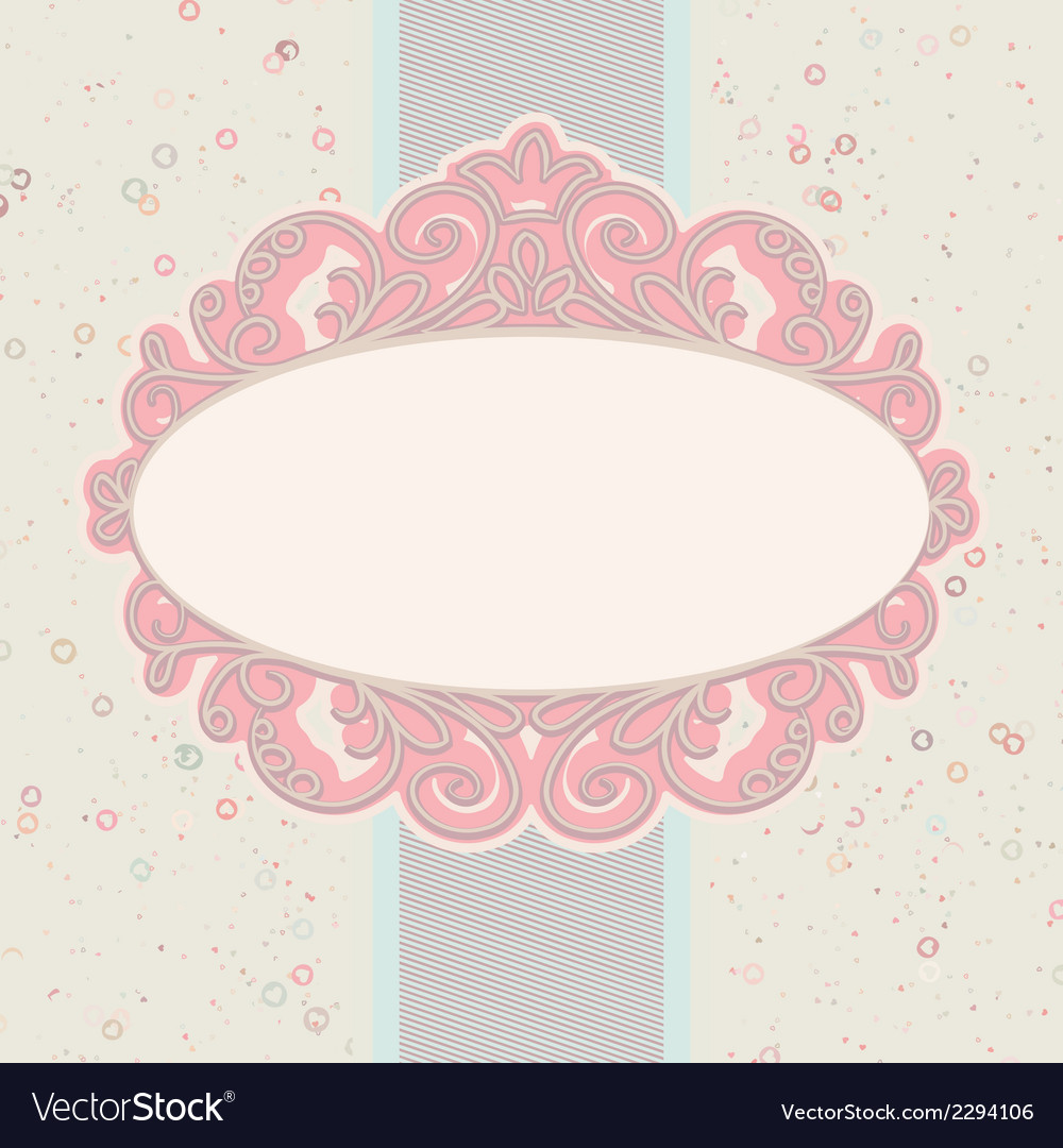 Card or invitation with valentine hearts eps 8 vector | Price: 1 Credit (USD $1)