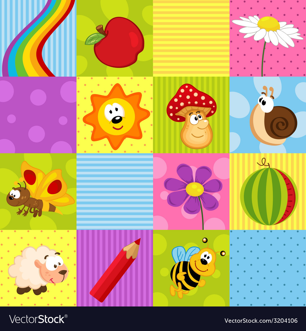 Colorful seamless pattern with squares vector | Price: 1 Credit (USD $1)
