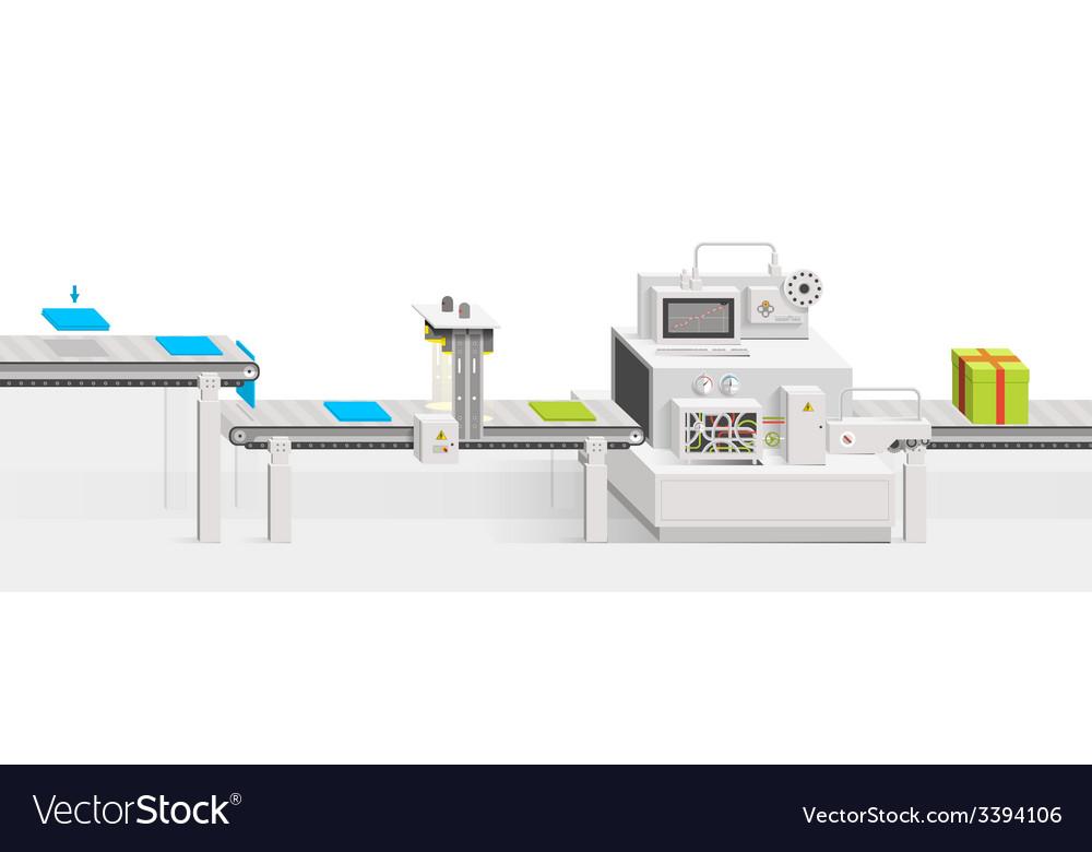 Conveyor production vector | Price: 1 Credit (USD $1)