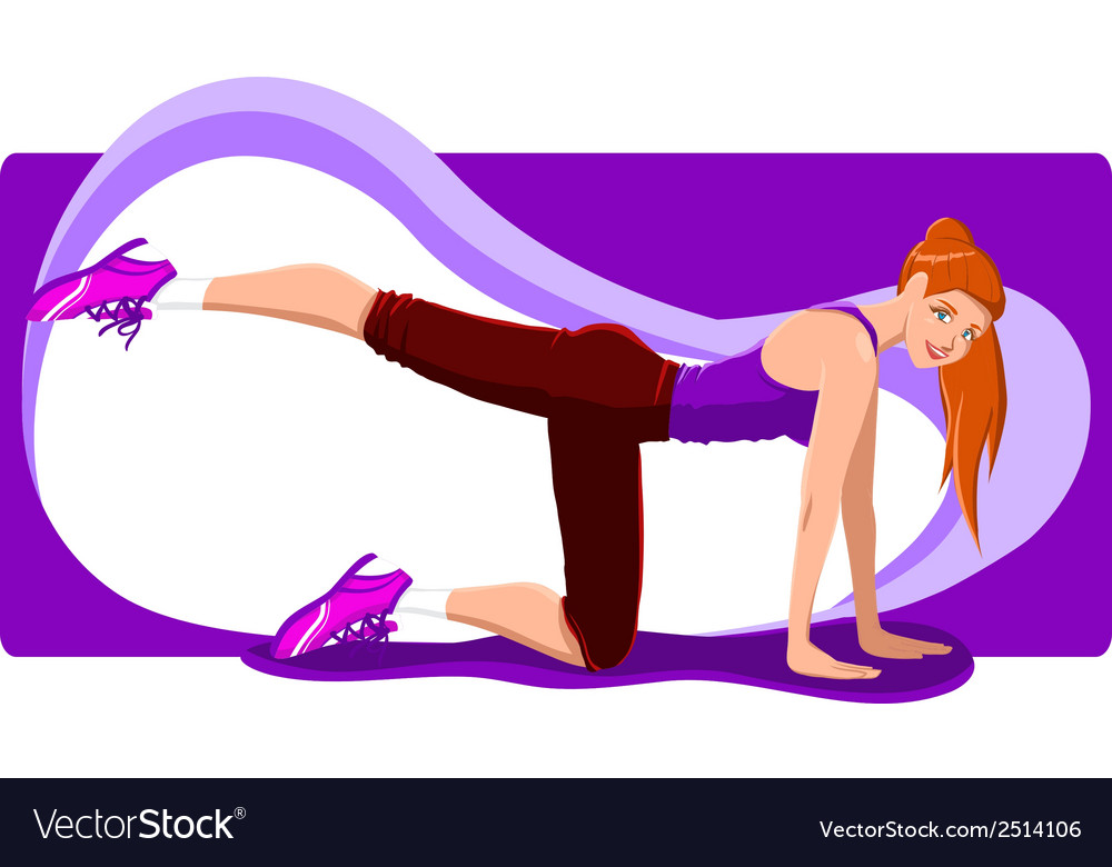 Fitness girl vector | Price: 1 Credit (USD $1)