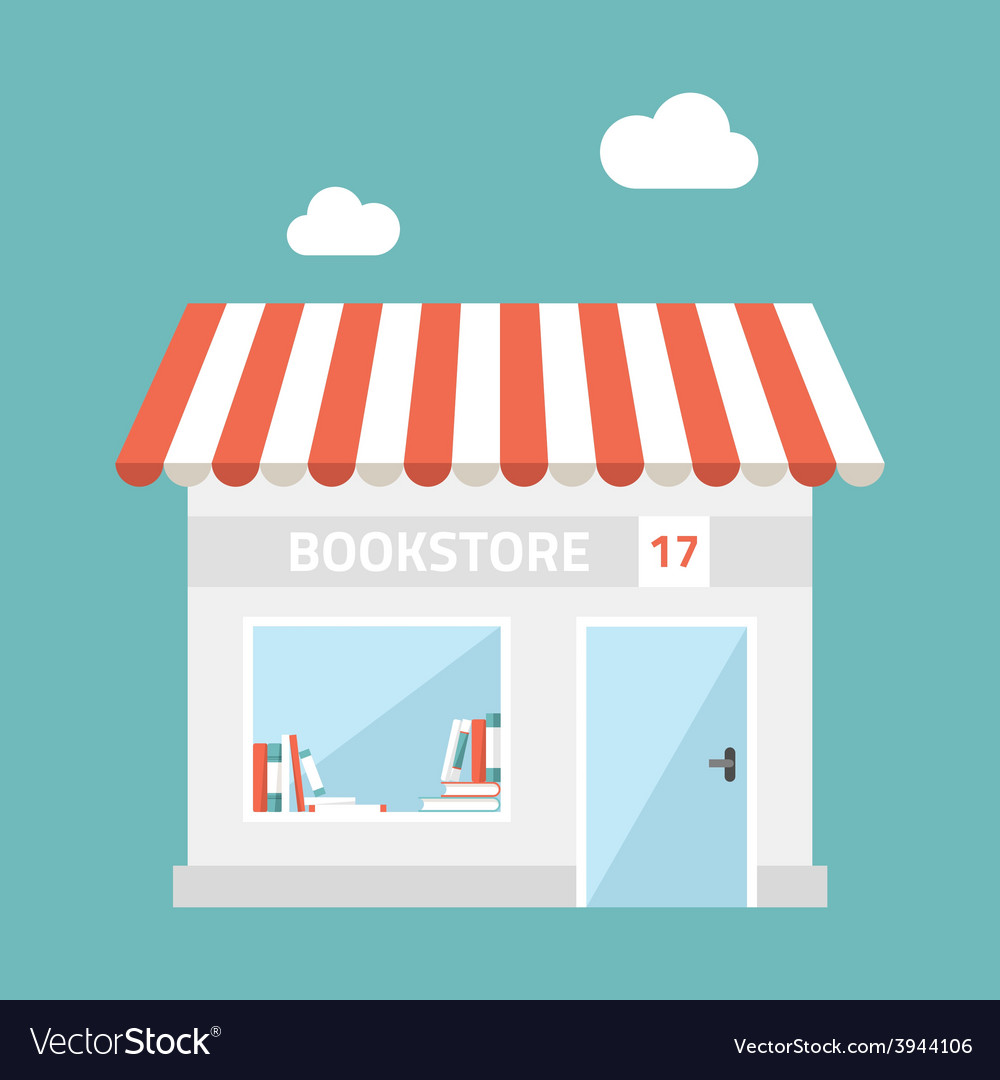 Flat design of small business concept house vector | Price: 1 Credit (USD $1)