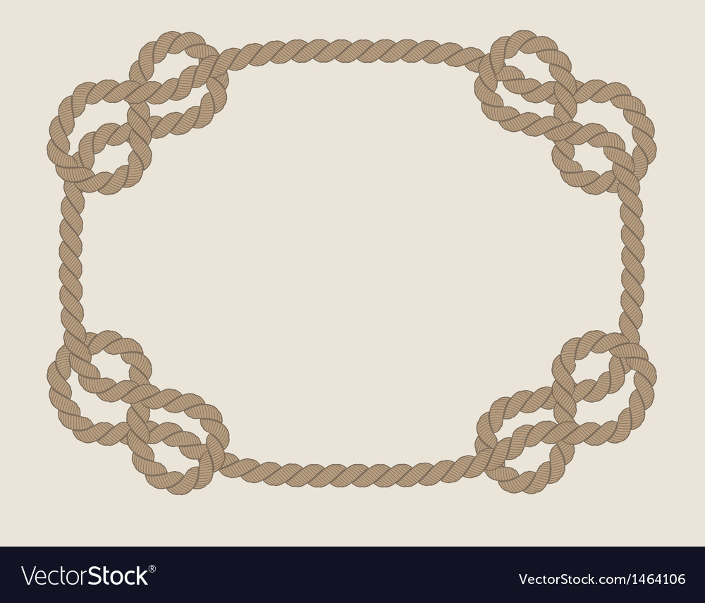 Frame made from rope vector | Price: 1 Credit (USD $1)