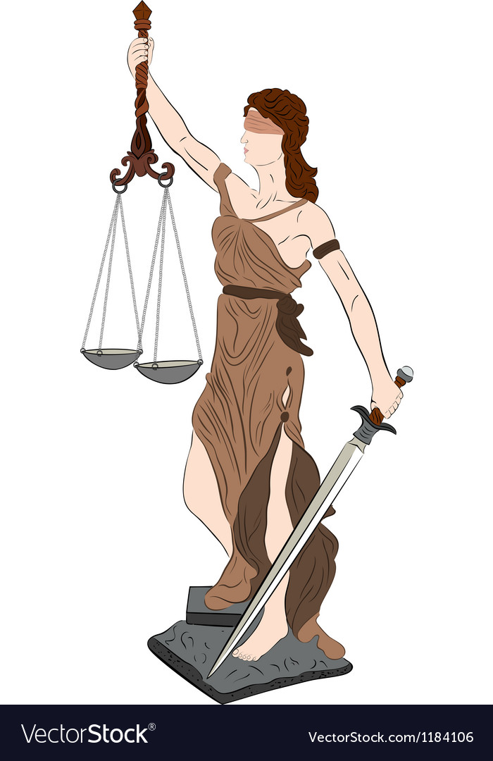 Goddess of justice vector | Price: 3 Credit (USD $3)