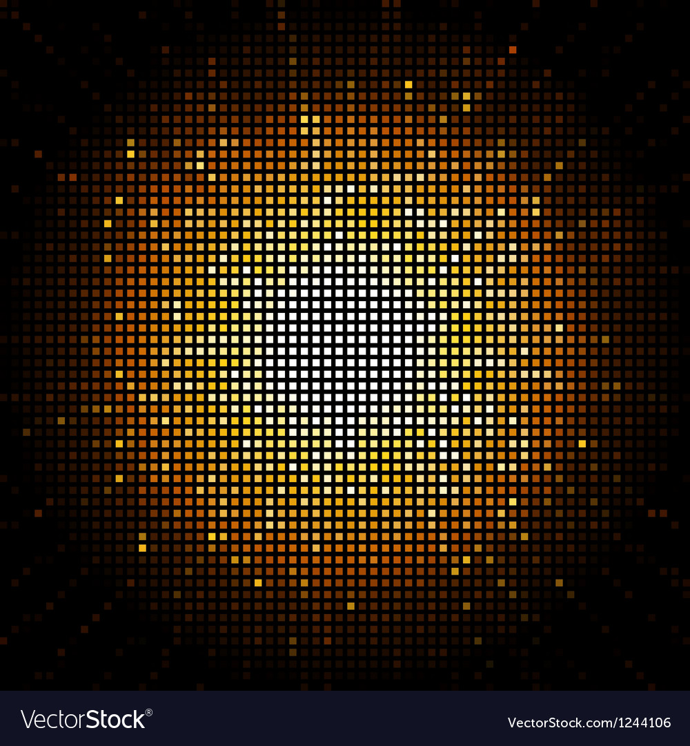 Gold starburst mosaic vector | Price: 1 Credit (USD $1)