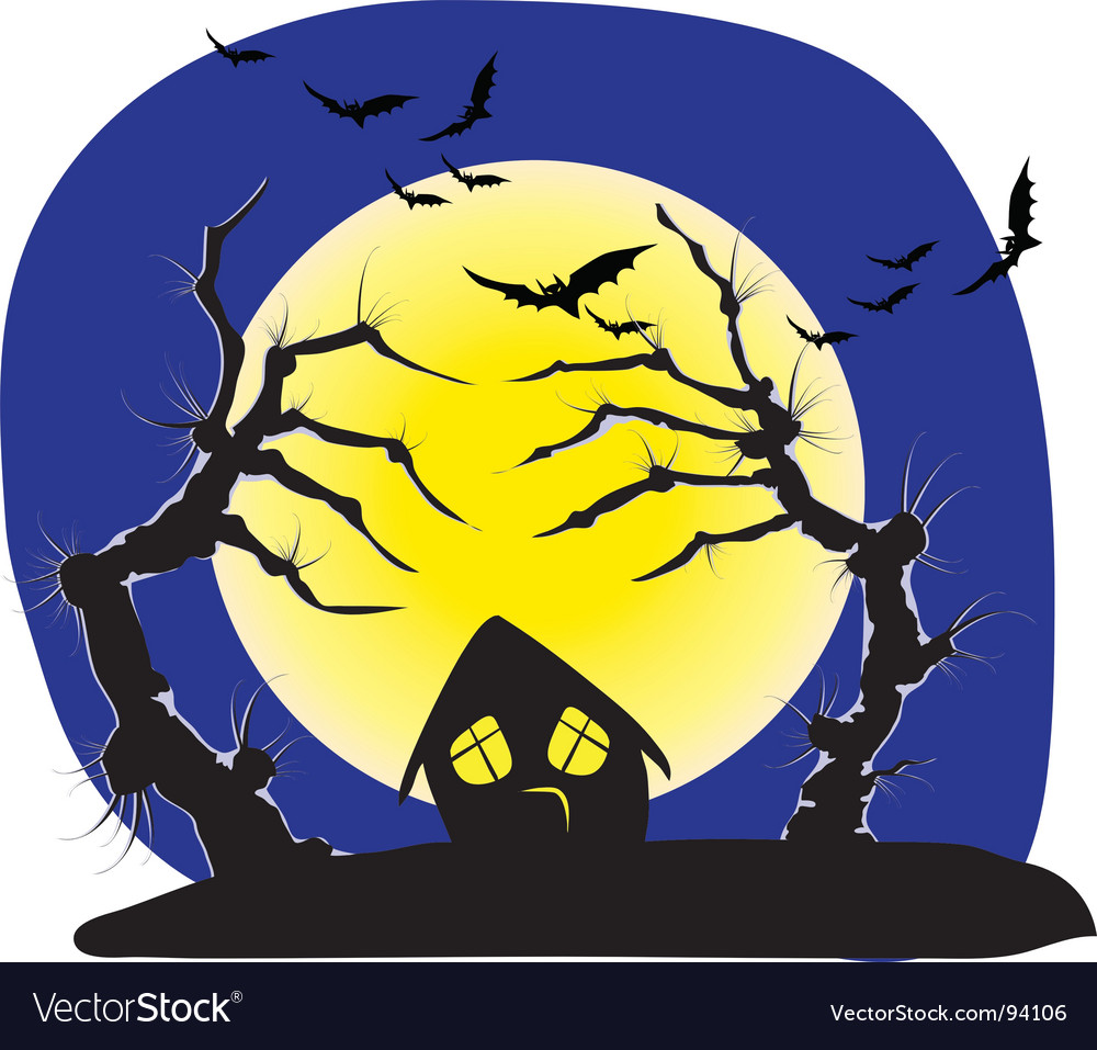 Halloween trees vector | Price: 1 Credit (USD $1)