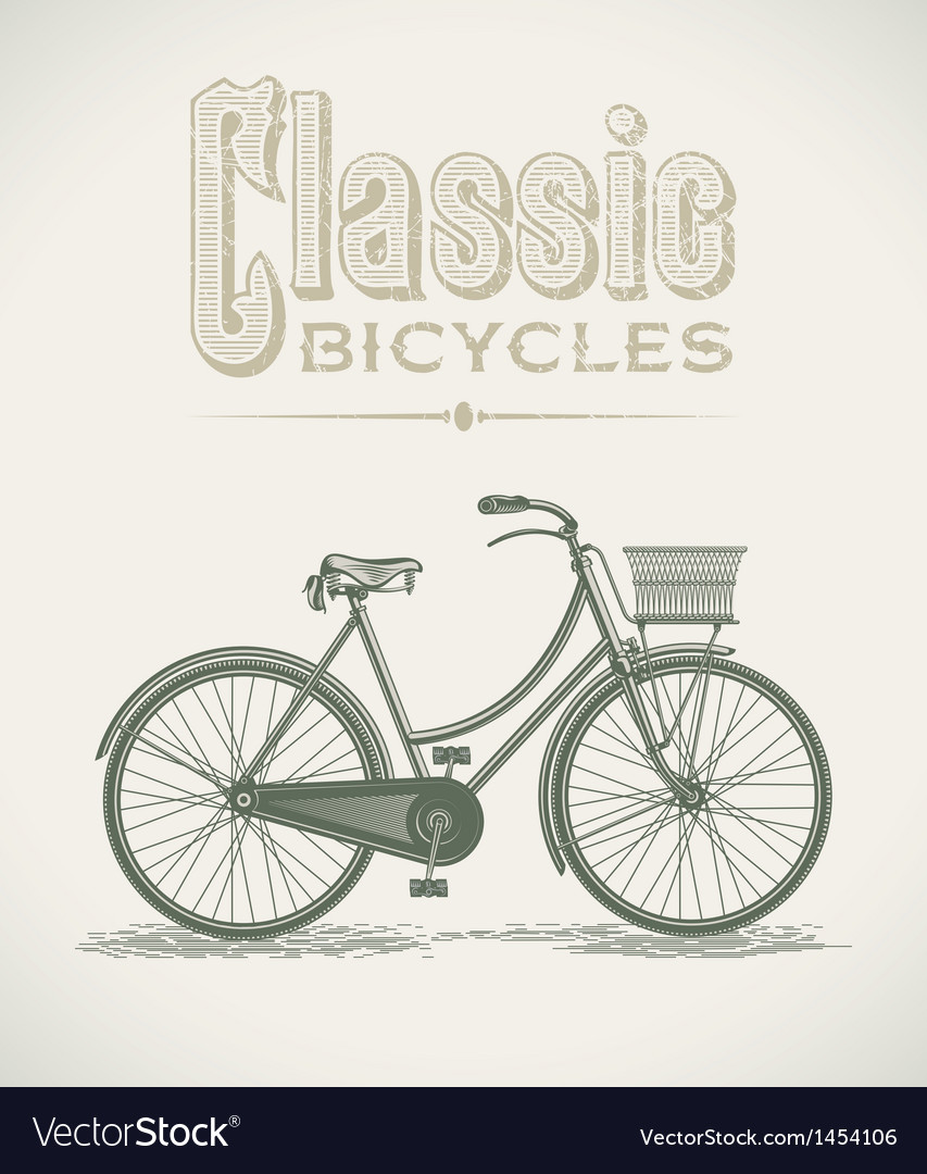 Ladys classic bicycle vector | Price: 1 Credit (USD $1)