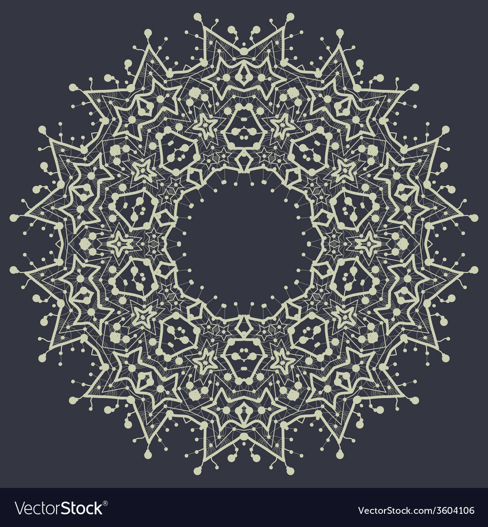 Mandala in outlines over gray background vintage vector | Price: 1 Credit (USD $1)