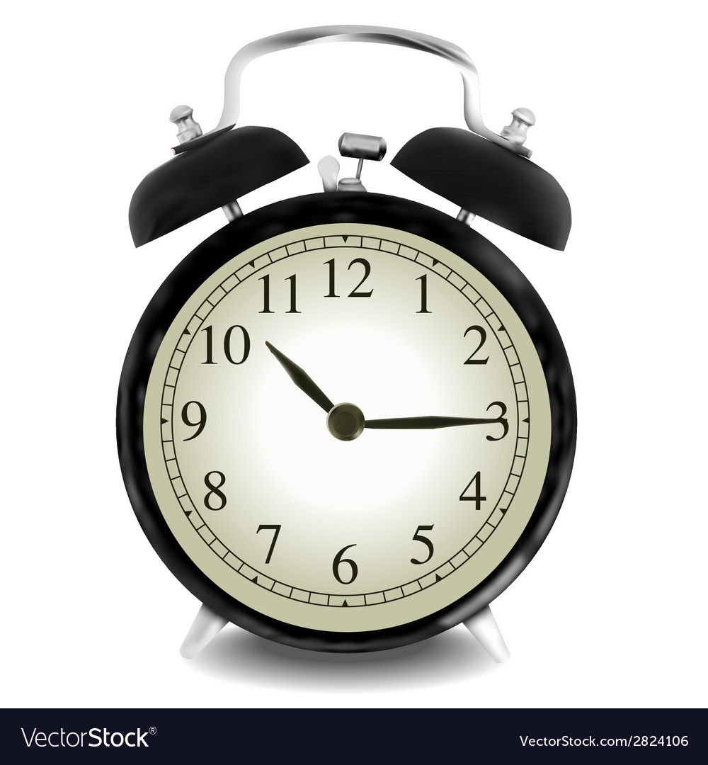 Realistic of wall clock vector | Price: 1 Credit (USD $1)
