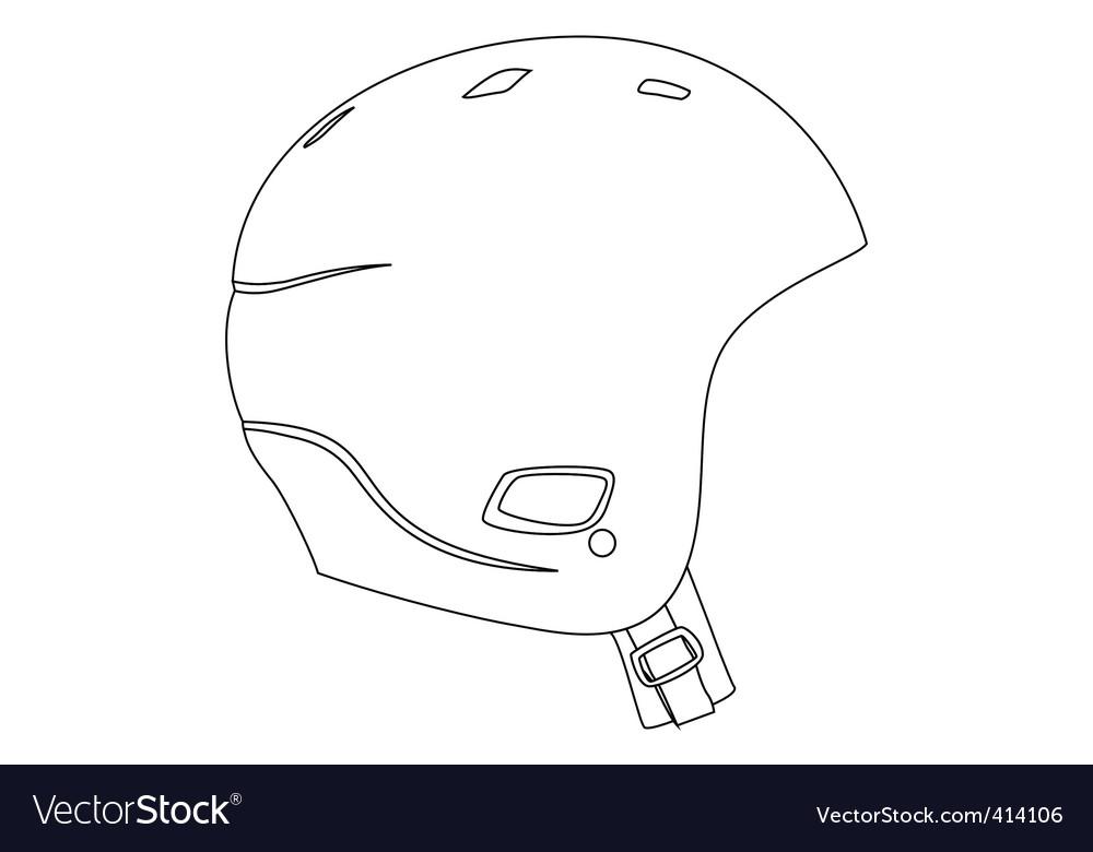 Sports helmet vector | Price: 1 Credit (USD $1)