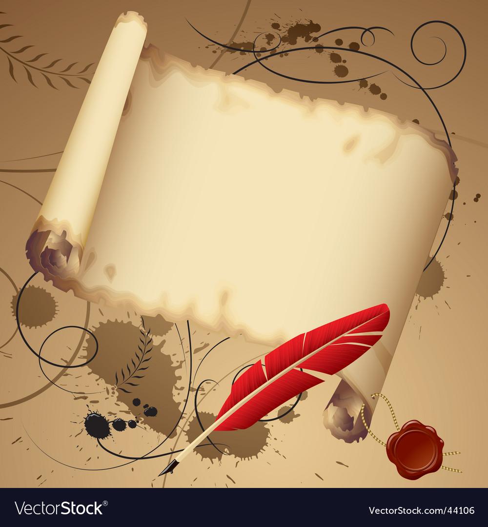 Vintage parchment vector | Price: 1 Credit (USD $1)